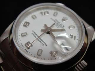Stainless Steel White Dial Ladies Rolex with Date   69160