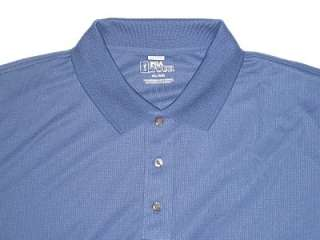 Mens PGA Tour Performance Polo Golf Blue Shirt 2XL