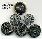 DEC #14 4 Antique Small Metal Buster Brown Buttons