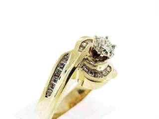 00 CT Ladys Diamond Engagement Ring 14K Yellow Gold