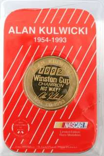 Limited Edition NASCAR Race Medallion 1 OZ Gold Plated Silver Coin