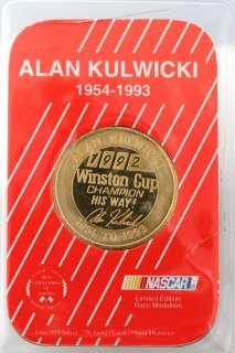 Limited Edition NASCAR Race Medallion 1 OZ Gold Plated Silver Coin