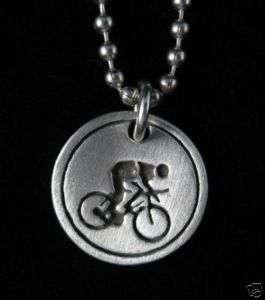 Biking Jewelry   Bicycling Pendant / Necklace 0978BC