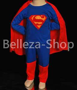 HALLOWEEN Party Superman Kid Cosplay Costume Size 2T 7 |