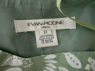 EVAN PICONE summer green & white floral dress size 12♥