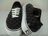 VANS AUTHENTIC BLACK CHECKERBOARD CLASSIC MEN ALL SIZES