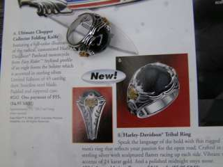 FRANKLIN MINT HARLEY DAVIDSON TRIBAL SILVER RING HAVE OTHER SIZES