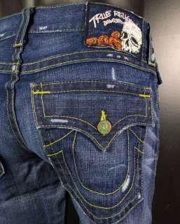 NWT Mens TRUE RELIGION Jeans RICKY Premium Straight Leg Vintage