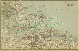 Landkarte 1896      Danzig Neufahrwasser Langfuhr Oliva