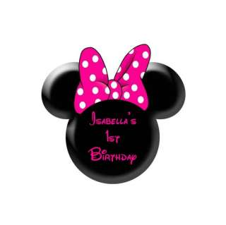12 Cupcake Edible Cake Image Disney Minnie Mouse Pink