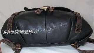Cynthia Rowley Leather Hair Calf Snake Hobo Backpack Purse Bag Sac