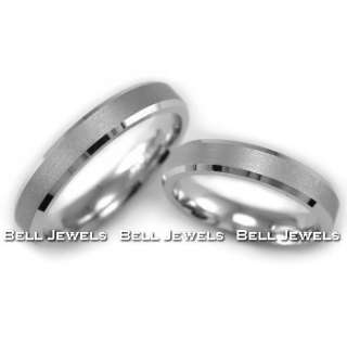 4MM MATCHING HIS & HER SET WEDDING BANDS RINGS 14K WHITE GOLD