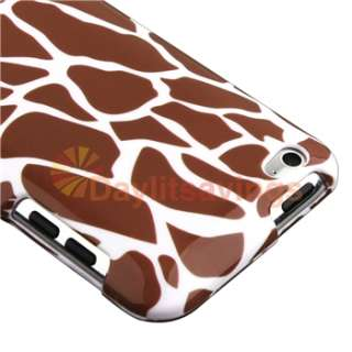 10 Item Zebra Heart Gadget Hard Case Cover Holder for Apple iPod Touch