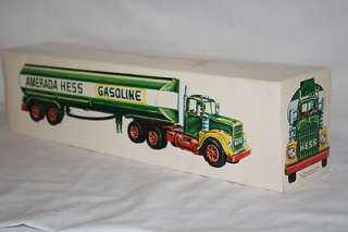 1969 Hess Amerada Gasoline Toy Truck Tank Trailer in Box Excellent