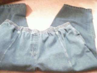 WOMENS PLUS BLUE JEANS SIZE 44 X 28 ~ DENIM 24 / 7 BRAND