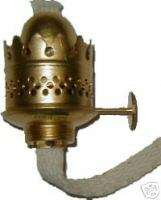 NUTMEG OIL LAMP PART BRASS BURNER AND WICK B9522