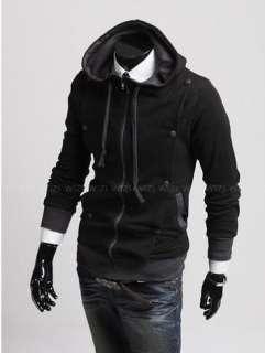 Stylish Mens Slim Fit Coat Jackets Hoodies Size XS,S,M ,L 3 Colours