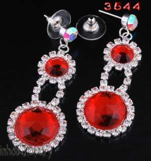 free Y30254 mix color bridal necklace earring 6sets round acrylic