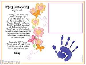 Childs Babys Poem & Handprint Print A Mommy Like You ~ Mothers Day