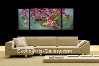 Chinese Feng Shui Fish Paintings are appropriate for both home Feng