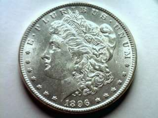 1896 MORGAN SILVER DOLLAR NICE UNCIRCULATED NICE ORIGINAL COIN FROM