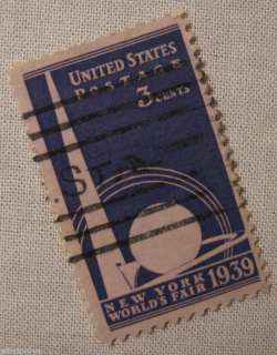 1939 COMMEMORATIVE 3 CENT NEW YORK WORLDS FAIR US 853 |