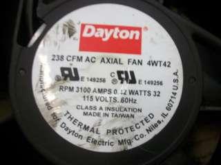 DAYTON 238 CFM AC AXIAL FAN 4WT42 115V 60HZ CNC