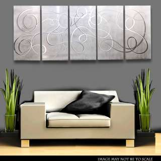 Abstract Wall Art Painting Sculpture White Silver Silent echoes