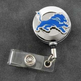 NFL Detroit Lions Retractable ID Badge Holder Reel