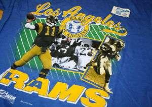 Vintage Los Angeles Rams T Shirt NFL Jim Everett