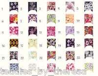 Flower Collection French Tip Nail Decals