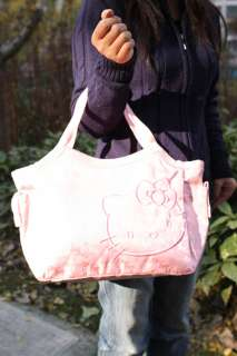 HELLO KITTY PINK NYLON HANDBAG SHOULDER BAG TOTE NEW