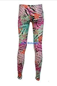 Ladies Hyper Floral Chain Scarf Animal Print Leggings Jeans Trousers 8