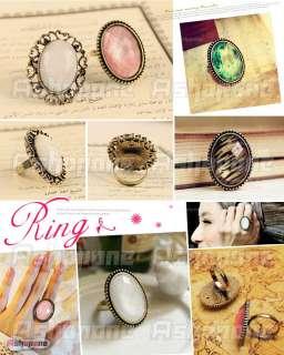 New Fashion Lovely Retro Style Big Rhinestone Ancient Ring