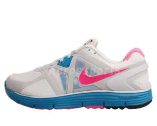 Nike Wmns Lunarglide 3 White Laser Pink Turquoise Womens Running Shoe