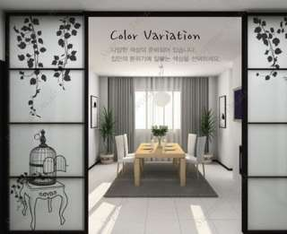 VINE and BIRDCAGE  Wall Art Home Decors Murals Removable Vinyl Decals