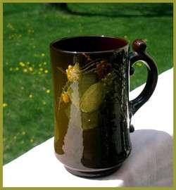 American Art Pottery Tankard Standard Glaze, Berries