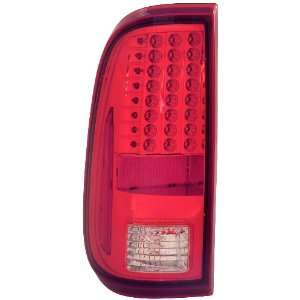 Anzo USA 311050 Ford Super Duty Red/Clear LED Tail Light Assembly
