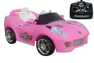NEW 6V ELECTRIC BATTERY TOY in BLACK,PINK,RED w/REMOTE CONTROL
