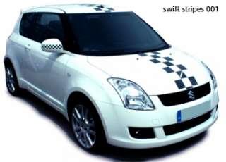 Suzuki Swift racing stripes stickers OTT 002