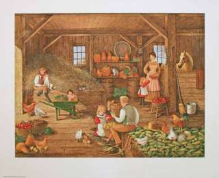 Harvest Time Signed & # Litho by Charlotte Sternberg