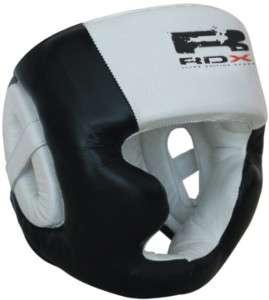 RDX Pro Leather Boxing Head Guard halmet,Gloves MMA L