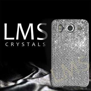 ZIRCONIA DIAMANTE CASE COVER FOR HTC DESIRE HD   SILVER