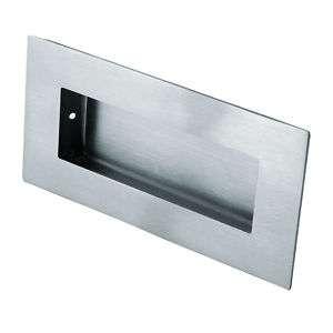 Flush / Recessed Pull Door Handle Satin Stainless Steel
