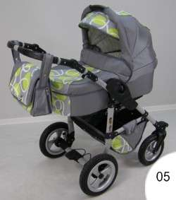 ORION 3IN1 PRAM PUSHCHAIR CAR SEAT AIR WHEELS 29DESIGNS