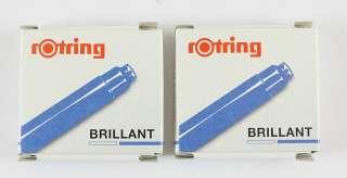Rotring BRILLIANT Ink cartridges refills BLUE