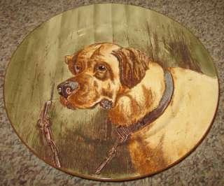 English Mastiff Victorian Dog Series Cauldon Lrg Plate