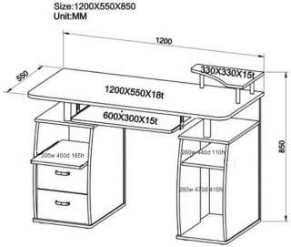 COMPUTER DESK Home Office Furniture Table NEW PC 5g