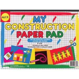 Paper Pad 9X12 48 Sheets 8 Brill by Alex Toys: Arts, Crafts & Sewing