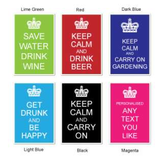 Keep Calm Metal Garden Sign, SAVE WATER DRINK WINE SIGN